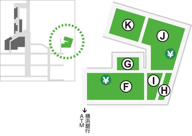 エキニア横浜店位置