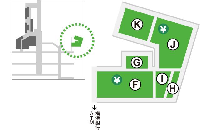 エキニア横浜店の位置