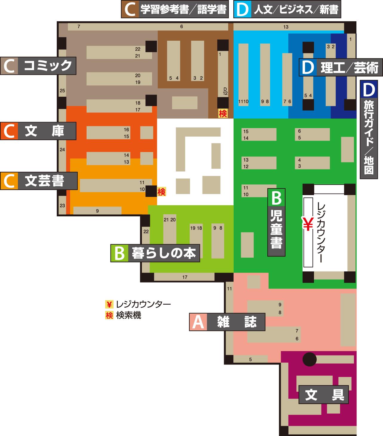 トレッサ横浜店フロアマップ