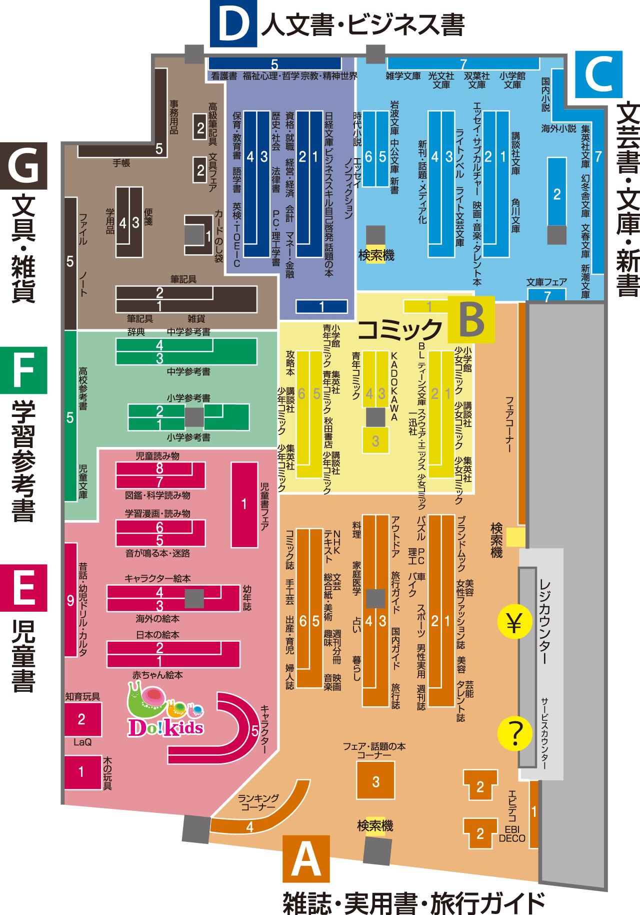 ららぽーと海老名店フロアマップ・取扱内容