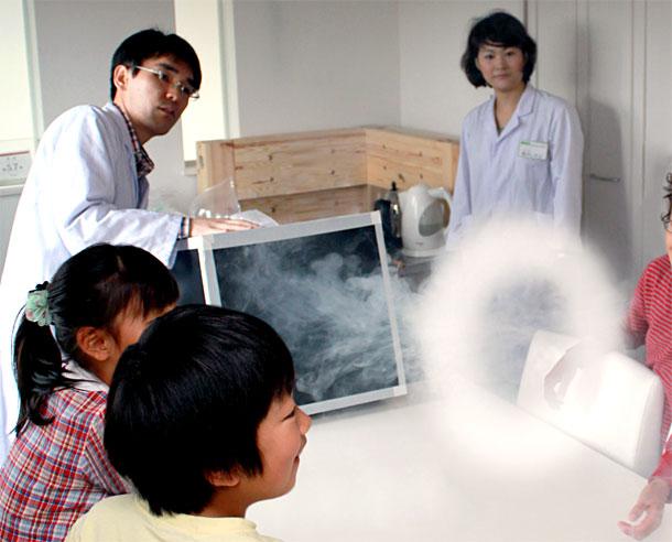 ご参加ありがとうございました! 科学実験セミナー「ドライアイスの秘密」&「やってみよう!作ってみよう!空気砲」