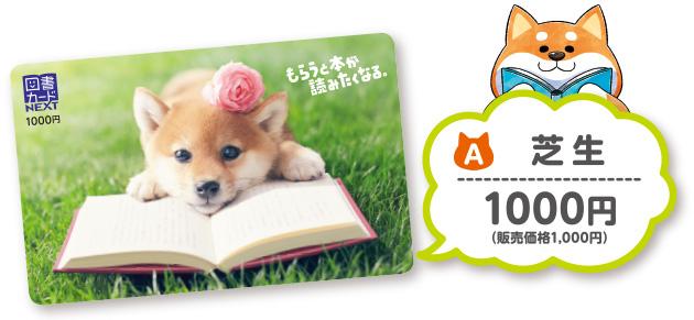 限定 柴犬図書カード発売中