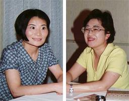左:片桐はいりさん 右:上橋菜穂子さん